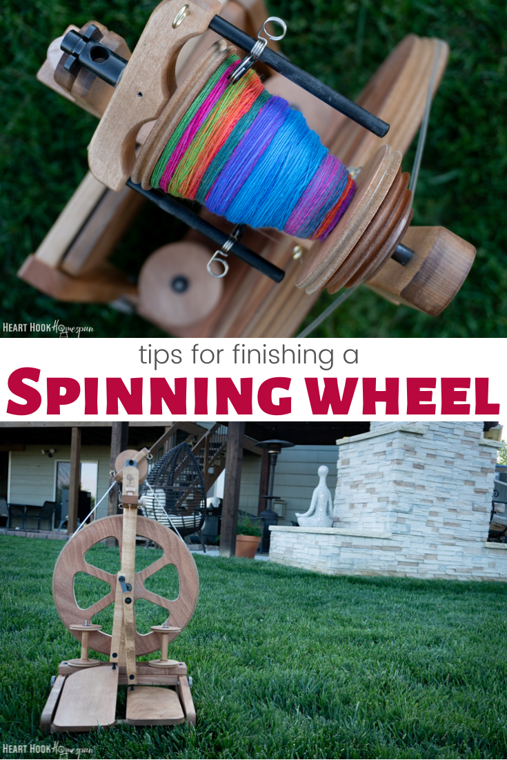 Finishing a Spinning Wheel