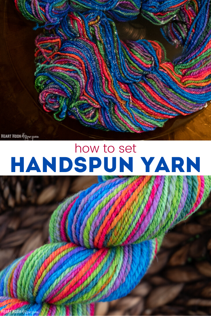 How to set homespun yarn