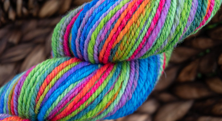How to set handspun yarn