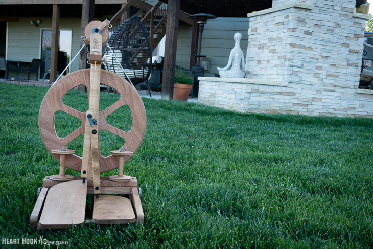 Tips for finishing a spinning wheel