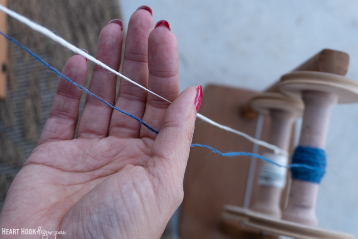 Plying yarn