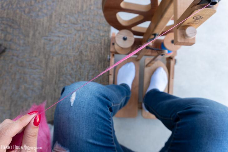 handspun yarn slub